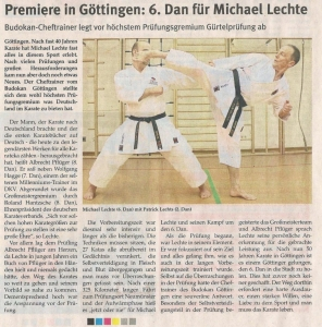 6.DAN für Michael Lechte