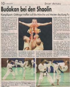 Budokan Bei den Shaolin