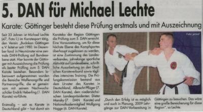 5.DAN für Michael Lechte