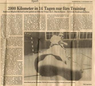 2000 Kilometer in 14 Tagen nur fürs Training